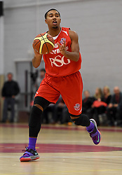 Dwayne Lautier-Ogunleye of Bristol Flyers in action during the BBL game between Bristol Flyers and Worcester Wolves at Wise Basketball Arena on January 17, 2015 in Bristol, England. - Photo mandatory by-line: Paul Knight/JMP - Mobile: 07966 386802 - 17/01/2015 - SPORT - Football - Bristol - SGS Wise Arena - Bristol Flyers v Worcester Wolves - Bristol Basketball League