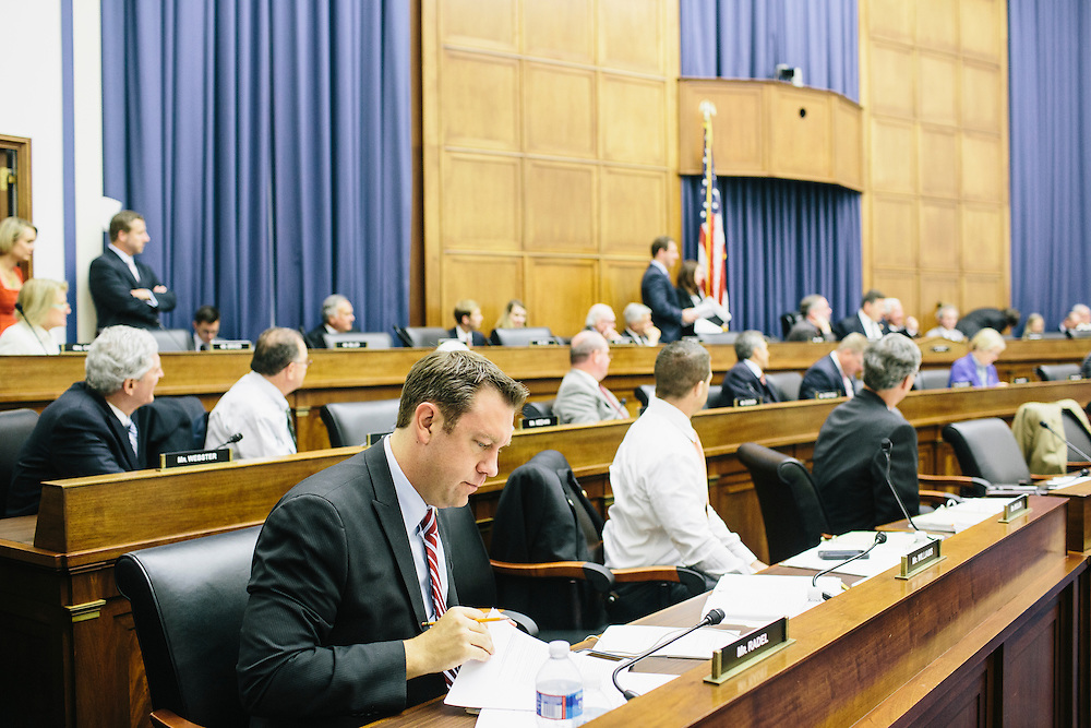 Congressman Trey Radel, Fla. during the Transportation and Infastructure committee's meeting on Sept. 19, 2013. During the meeting, the committee passed the Water Resources Reform and Development Act of 2013, a bipartisan bill.