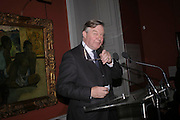 Nicholas Ferguson ( Chairman Courtauld Institute of Art), Celebration honouring the arrival of Deborah Swallow, director, Courtauld Institute of Art. Courtauld Gallery. Somerset House. 9 December 2004. ONE TIME USE ONLY - DO NOT ARCHIVE  © Copyright Photograph by Dafydd Jones 66 Stockwell Park Rd. London SW9 0DA Tel 020 7733 0108 www.dafjones.com