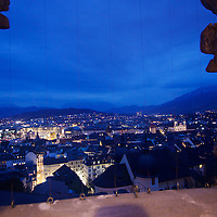 The blue blanket of night comes for Luzern from one of the city's most exclusive viewpoints: The Powder Tower. Part of the City wall fortification that includes nine towers built in 1386, the Musegg wall marked the onetime border of the city and is still intact today.