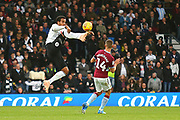 Derby County midfielder Tom Huddlestone (44) controls the ball during the EFL Sky Bet Championship match between Derby County and Aston Villa at the Pride Park, Derby, England on 10 November 2018.