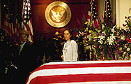 Burial of President Richard Nixon at the Nixon Library and Birthplace.