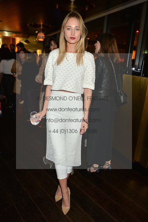 ERIN FEE at the Launch Of Osman Yousefzada's 'The Collective' 4th edition with special guest collaborator Poppy Delevingne held in the Rumpus Room at The Mondrian Hotel, 19 Upper Ground, London SE1 on 24th November 2014, sponsored by Storm models and Beluga vodka.