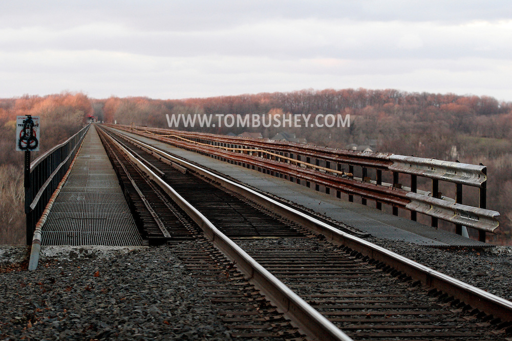 Salisbury Mills, NY - A view of the railroad tracks on the Moodna Viaduct on Nov. 28, 2009.