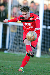 BEN MILNES KETTERING TOWN, Kettering Town FC v Kings Lynn Town FC Evo stk Southern Premier League, Latimer Park Monday New Years Day 1st January 2018.<br /> Photo:Mike Capps, Score 1-0 (Aaron O'Connor) Kettering go top of Table