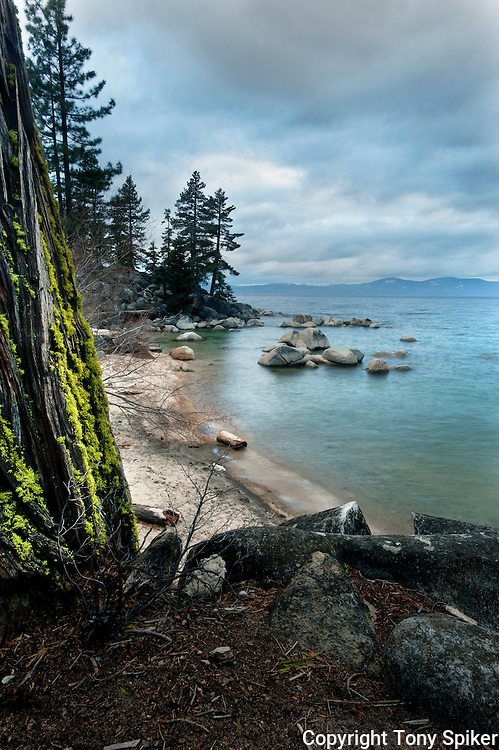"""Skunk Harbor 1"" - A storm rolls in at Skunk Harbor, on Lake Tahoe's Eastern Shore."