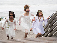 Flower girls for the wedding of Katie Richmond and Ty Livingston in Jupiter, Florida, on January 20, 2018.