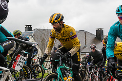 Peloton with Tom Leezer (NED) of Team Jumbo-Visma (NED,WT,Bianchi) at Saint-Roch, Houffailize during the 2019 Li&egrave;ge-Bastogne-Li&egrave;ge (1.UWT) with 256 km racing from Li&egrave;ge to Li&egrave;ge, Belgium. 28th April 2019. Picture: Pim Nijland | Peloton Photos<br /> <br /> All photos usage must carry mandatory copyright credit (Peloton Photos | Pim Nijland)