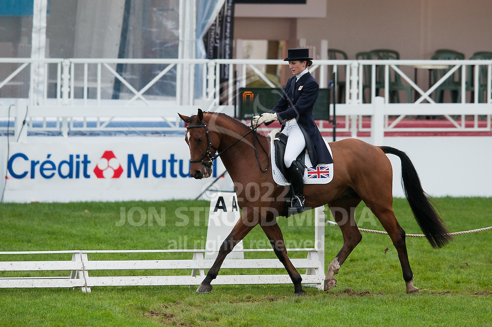 Camilla (Millie) Dumas (GBR) & Artistiek - Dressage - 7 Year Old Horses - Mondial du Lion - FEI World Championship for Young Horses - Le Lion d'Angers, France - 18 October 2012