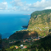 View of Madeira's North shore near porto da Cruz