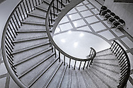 A spiral staircase leads downstairs at the Florida State Capitol, July 23, 2013, in Tallahassee, Florida. (Photo by Carmen K. Sisson/Cloudybright)