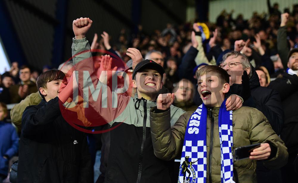 Bristol rovers fans celebrate at full time. - Mandatory by-line: Alex James/JMP - 10/02/2018 - FOOTBALL - Kassam Stadium - Oxford, England - Oxford United v Bristol Rovers - Sky Bet League One