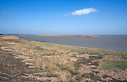 Orford Ness spit from Shingle Street, Suffolk, England