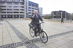 Federal Environment Minister Peter Altmaier on the e-bikes of the BMU, Bonn, Germany, December 18, 2012. Photo by Imago / i-Images...UK ONLY