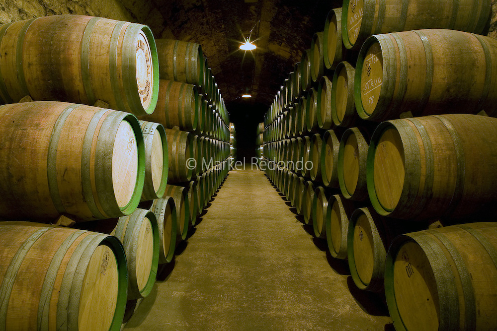 The old and traditional winery at Marques de Riscal dates back to more than 150 years, in Elciego, Spain, Oct. 10, 2008. Photographer: Markel Rendondo/Fedephoto.
