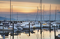 Yachts in the Squalicum Marina, Bellingham Bay Washington