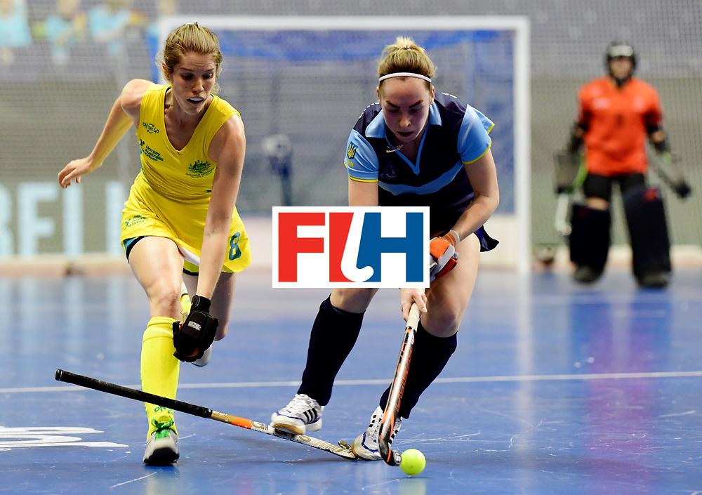 BERLIN - Indoor Hockey World Cup<br /> Women: Ukraine - Australia<br /> foto: GRAY Kyah.<br /> WORLDSPORTPICS COPYRIGHT FRANK UIJLENBROEK
