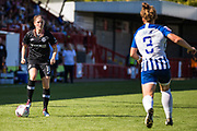 Maren Mjelde (Chelsea) with Fliss Gibbons (Brighton) in front during the FA Women's Super League match between Brighton and Hove Albion Women and Chelsea at The People's Pension Stadium, Crawley, England on 15 September 2019.
