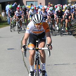 03-04-2016: Wielrennen: Ronde van Vlaanderen vrouwen: Oudenaarde  <br />OUDENAARDE (BEL) cycling  <br />The sixth race in the UCI Womensworldtour is the ronde van Vlaanderen. A race over the famous Flemish climbs. Almost caught after an attack of 25km Thalita de Jong