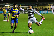 Forest Green Rovers Dan Wishart(17) crosses the ball during the Vanarama National League match between Solihull Moors and Forest Green Rovers at the Automated Technology Group Stadium, Solihull, United Kingdom on 25 October 2016. Photo by Shane Healey.