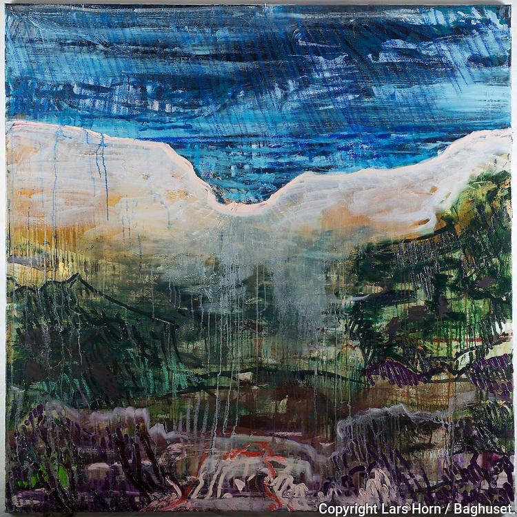 Affotografering af Erik Peitersen s maleri Vendsyssel billeder.Foto: © Lars Horn / Baghuset.Date : 06.11.12
