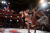 Favela Kombat MMA is a mixed-martial event bringing contending semi-professional fighters from Rio's favelas into the octagon, some for the first time. The first tournament was held in Rocinha, on Saturday, March 9, 2013. The community only pays in food donations, enabling access to see an organized mixed-martial arts event, and for many their first time seeing a live fight.