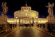 Castel Sant'Angelo - Castel Sant'Angelo - Rome, Lazio, Italy, was originally built as a mausoleum for Emperor Hadrian and later rebuilt by various popes to the castle.