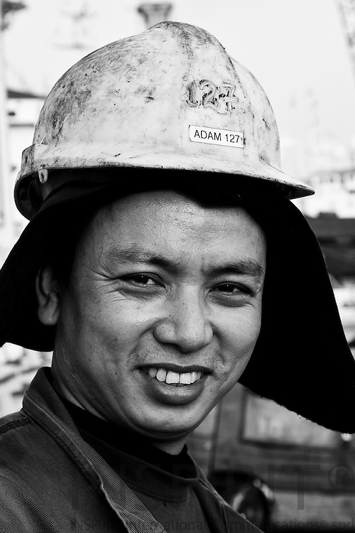 Adam Yinthang, 37, from Burma and the last 3 years Shipfitter Apprentice at Soeby Shipyard on the small Danish island Aeroe in the Baltic Sea where the shipyard has been since it was established in 1931.
