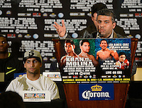 Dec 12,2012. Los Angeles CA. USA. Amir Khan(L.) and his manger Asif Vali(R.)at the  press conference. The fight will be scene on ShowTime live from the Los Angeles Sports Arena Saturday  Dec 10th.  Photo by Gene Blevins/LA Daily News