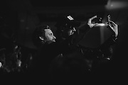 Rob Benedict and Chad Lindberg at the Dick and Matt Pack karaoke party, Salute to Supernatural Las Vegas 2014