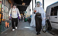 The weekend before Halloween in New Orleans French Quarter.