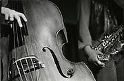 Kontrabass und Saxofon, double bass & saxophone, Live music, La Spirale. © Romano P. Riedo