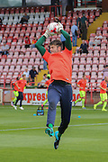 goalkeeper Scott Flinders during the Sky Bet League 2 match between Exeter City and York City at St James' Park, Exeter, England on 22 August 2015. Photo by Simon Davies.
