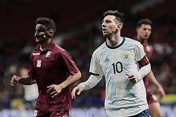March 22, 2019 - Madrid, Spain - Argentina's Leo Messi during International Adidas Cup match between Argentina and Venezuela at Wanda Metropolitano Stadium. (Credit Image: © Legan P. Mace/SOPA Images via ZUMA Wire)