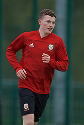 NEWPORT, WALES - Thursday, March 21, 2019: Wales' Nathan Broadhead during an Under-21 training session at Dragon Park. (Pic by David Rawcliffe/Propaganda)