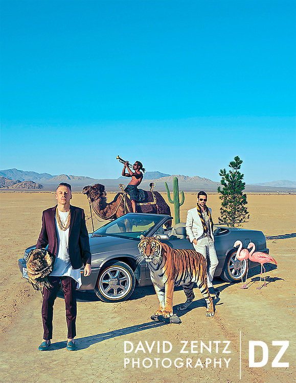 The 2013 world tour poster for Macklemore and Ryan Lewis.