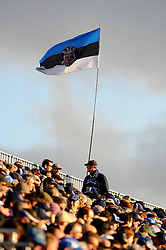 A Bath flag flies in the stands during the first half of the match - Photo mandatory by-line: Rogan Thomson/JMP - Tel: Mobile: 07966 386802 09/11/2012 - SPORT - RUGBY - The Recreation Ground - Bath. Bath v Newport Gwent Dragons  - LV= Cup