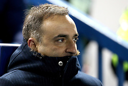 Sheffield Wednesday manager Carlos Carvalhal tries to keep warm on a cold night at Hillsborough - Mandatory by-line: Robbie Stephenson/JMP - 10/02/2017 - FOOTBALL - Hillsborough - Sheffield, England - Sheffield Wednesday v Birmingham City - Sky Bet Championship