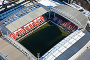 Nederland, Utrecht, Utrecht, 31-01-2010; Stadion Galgenwaard van voetbalclub FC Utrecht in de wijk Galgewaard, met Bunnik site (r). The renovated stadium of football club FC Utrecht;luchtfoto (toeslag), aerial photo (additional fee required).foto/photo Siebe Swart