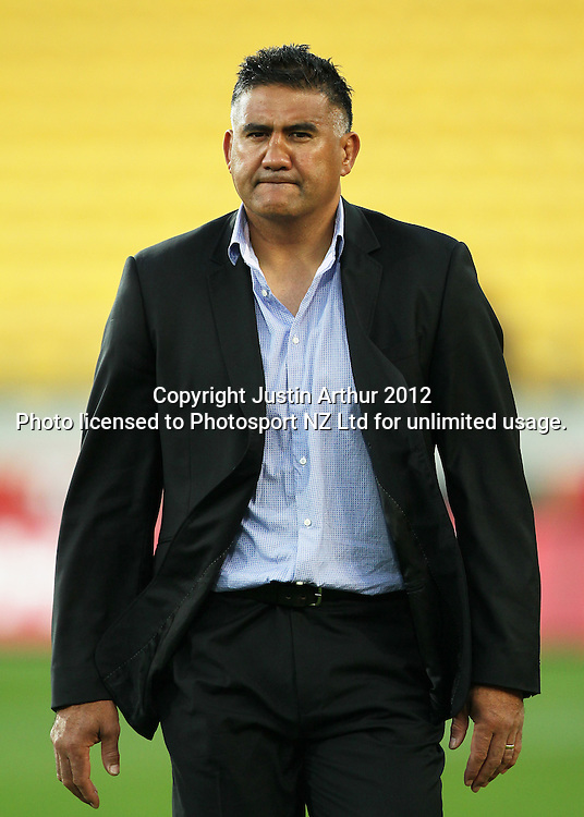 Highlanders' Head Coach Jamie Joseph during the 2012 Super Rugby season, Hurricanes v Highlanders at Westpac Stadium, Wellington, New Zealand on Saturday 17 March 2012. Photo: Justin Arthur / Photosport.co.nz