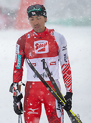 31.01.2016, Casino Arena, Seefeld, AUT, FIS Weltcup Nordische Kombination, Seefeld Triple, Langlauf, im Bild Akito Watabe (JPN, 2.Platz) // 2nd placed Akito Watabe of Japan reacts after 15km Cross Country Gundersen Race of the FIS Nordic Combined World Cup Seefeld Triple at the Casino Arena in Seefeld, Austria on 2016/01/31. EXPA Pictures © 2016, PhotoCredit: EXPA/ Jakob Gruber