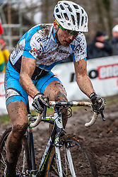 Martin LOO (73,EST), 7th lap at Men UCI CX World Championships - Hoogerheide, The Netherlands - 2nd February 2014 - Photo by Pim Nijland / Peloton Photos