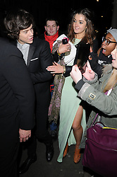 Harry Styles from One Direction at The Sony Music Brit Awards after party at The Arts Club in Mayfair, London, UK. 20/02/2013<br />BYLINE MUST READ : GOTCHAIMAGES.COM<br /><br />Copyright by © Gotcha Images Ltd. All rights reserved.<br />Usage of this image is conditional upon the acceptance <br />of Gotcha Images Ltd, terms and conditions available at<br />www.gotchaimages.com
