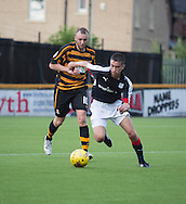 Dundee&rsquo;s Cammy Kerr goes past Alloa Athletic&rsquo;s Greig Spence - Alloa Athletic v Dundee, pre-season friendly at Recreation Park, Alloa<br /> <br />  - &copy; David Young - www.davidyoungphoto.co.uk - email: davidyoungphoto@gmail.com