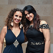 Radio Producer Gabriella Incalza and Sunrise Radio presenter Sonia Dutta attend Asian Restaurant & Takeaway Awards | ARTA 2018 at InterContinental London - The O2, London, UK. 30 September 2018.