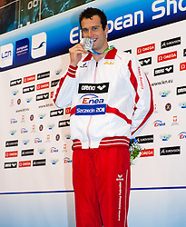 08.12.2011, Stettin, POL, Kurzbahn Schwimm EM, Podium 200m Lagen, im Bild Markus ROGAN (AUT, Silber Medaille) // Markus ROGAN of Austria silver medal on Podium 200m Individual at European Swimming Short Course Championships 2011, Szczecin, Poland on 2011/12/08. EXPA Pictures © 2011, PhotoCredit: EXPA/ Insidefoto/ Giorgio Scala..***** ATTENTION - for AUT, SLO, CRO, SRB, SUI and SWE only *****