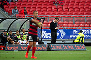 SYDNEY, NSW - FEBRUARY 24: Perth Glory coach Tony Popovic writes some notes at round 20 of the Hyundai A-League Soccer between Western Sydney Wanderers FC and Perth Glory on February 24, 2019 at Spotless Stadium, NSW. (Photo by Speed Media/Icon Sportswire)