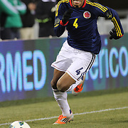Juan Guillermo Cuadrado, Colombia, in action during the Brazil V Colombia International friendly football match at MetLife Stadium, New Jersey. USA. 14th November 2012. Photo Tim Clayton