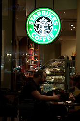 Starbucks coffee shop, Reading, Berkshire, England, 13 November 2013. Picture by Jonathan Mitchell / i-Images