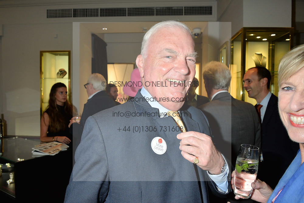 JAMES OSBORNE he is the uncle of George Osborne at a party to celebrate the publication of the Summer edition og the Fitzdares Times held at Theo Fennell, 169 Fulham Road, London on 13th June 2016.